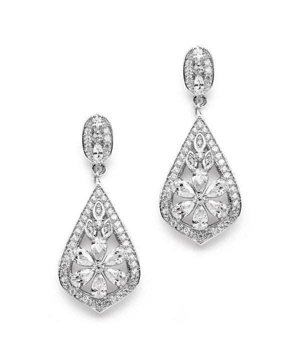 Mariell Vintage Designer Zirconia Earrings