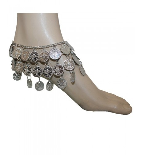 Silver Belly Dance Anklet Adjustable