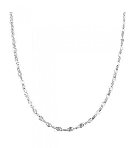 Sterling Silver 2 2 mm Diamond cut Chain