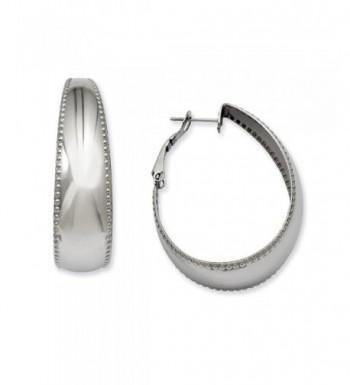 Stainless Steel Textured Earrings 1 6IN