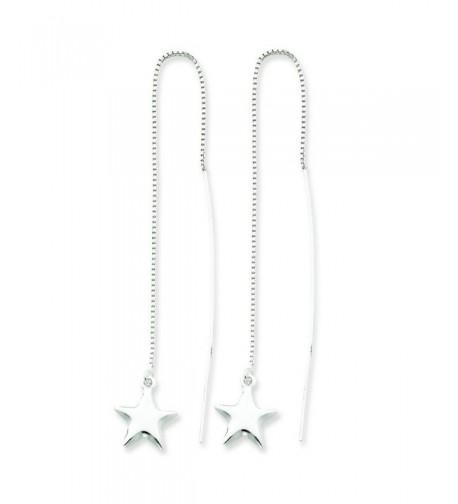 Sterling Silver Star Threader Earrings