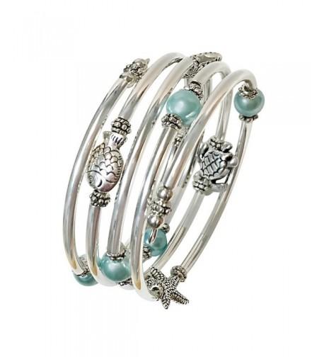 Seller Pearl Silver Slinky Bracelet