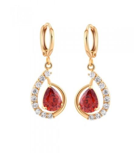 YAZILIND Zirconia Earrings Multicolor Charming