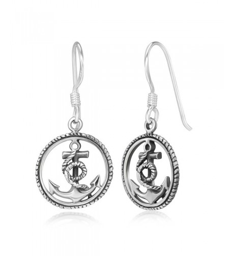 Stelring Silver Anchor Sailor Earrings