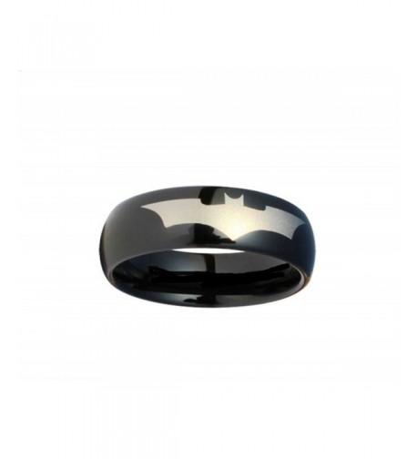 Batman Print Black Tungsten Carbide