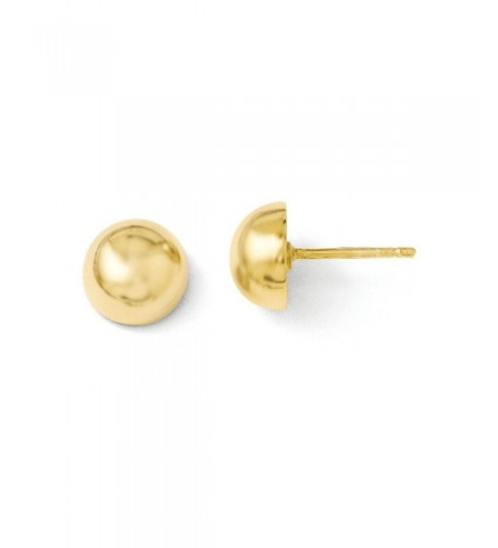 Sterling Silver Gold Plated Polished Earrings