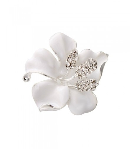 SENFAI Brooches Fashion Flowers Rhinestone