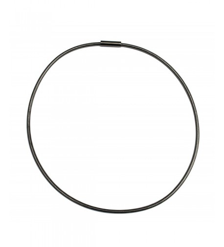 Gunmetal 3mm Omega Necklace Chain