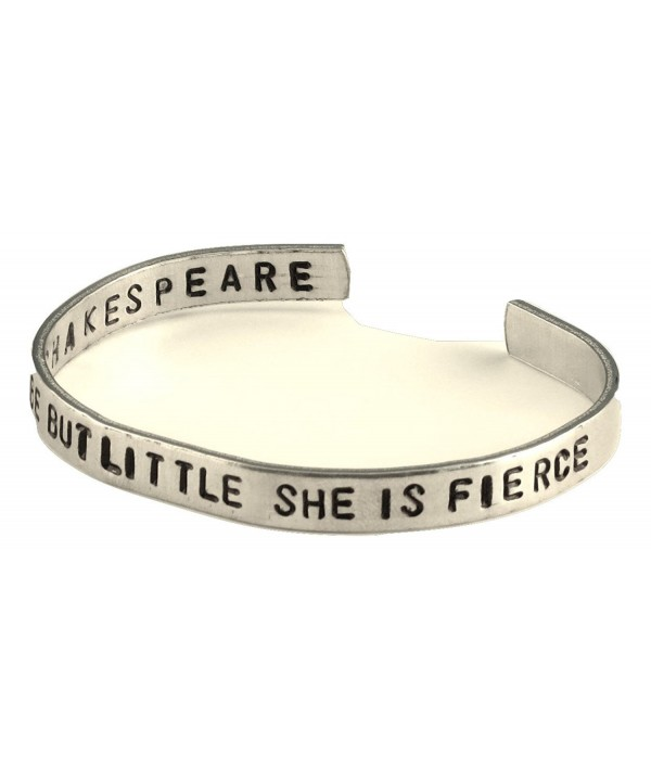 Shakespeare Bracelet 2 Sided Stamped Aluminum