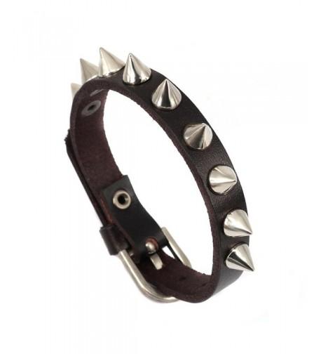 Aprilsky Genuine Leather Adjustable Bracelet