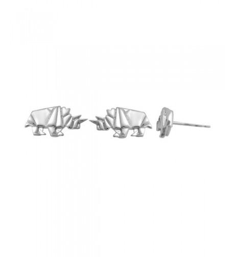 Boma Sterling Origami Rhinoceros Earrings