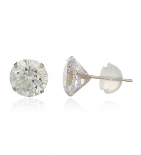 White Zirconia Silicone Earrings GO 346
