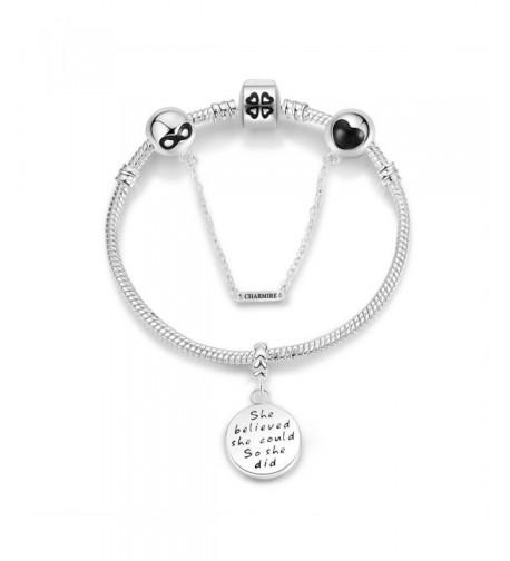 Bracelets Engraved believed Inspirational Jewelry