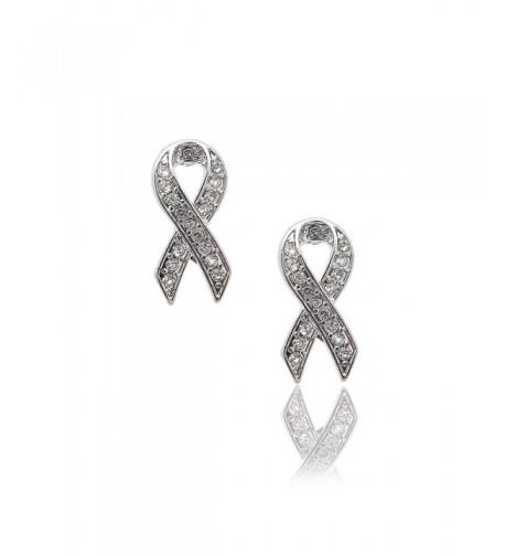 Spinningdaisy Breast Awareness Earrings Crystal