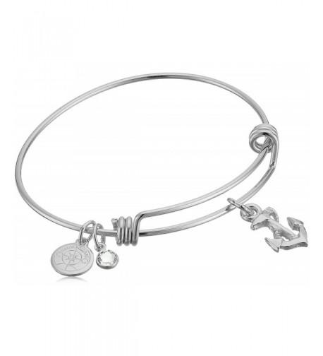 Halos Glories Anchor Silver Bracelet