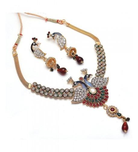 Jewar peacock jewelry necklace 6065