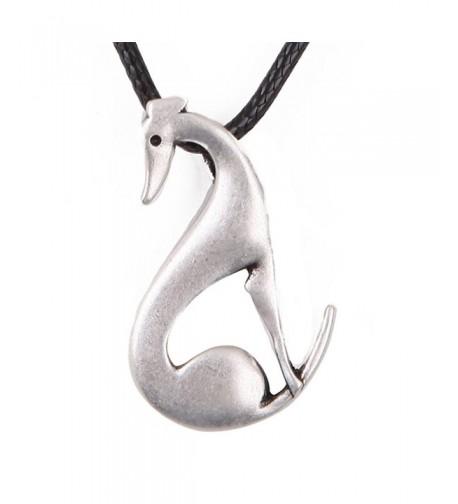 Elegant Greyhound Necklace Memorial 1252