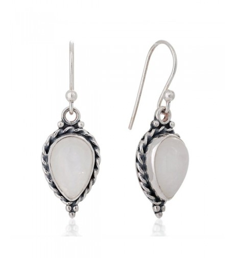 Sterling Moonstone Gemstone Vintage Earrings
