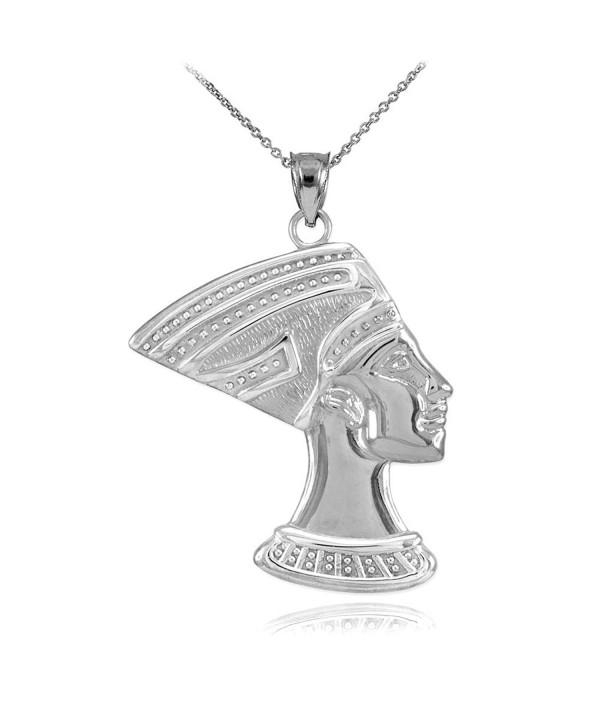 Sterling Egyptian Nefertiti Pendant Necklace