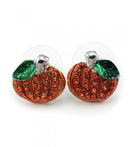 Small Halloween Thanksgiving Pumpkins Earrings