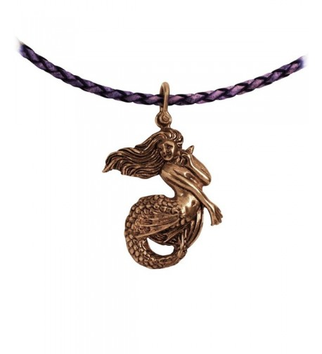 Mermaid Pendant Crafted Braided Necklace