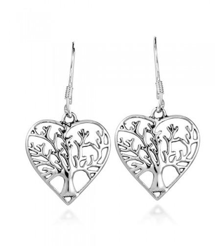 Romantic Sterling Silver Dangle Earrings