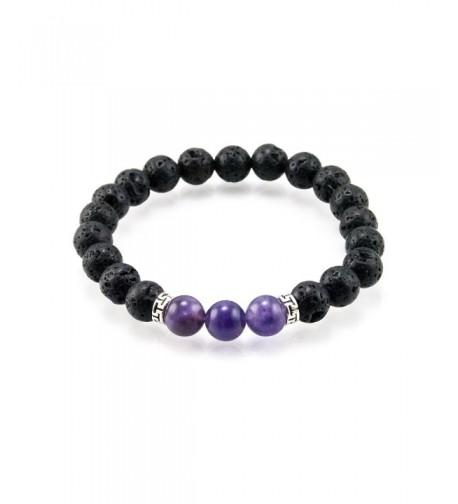 Diffuser Stretch Bracelet Amethyst Gemstone