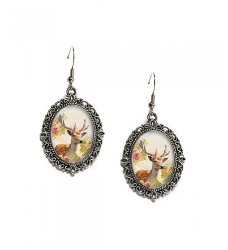 Floral Woodland Antlers Filigree Earrings