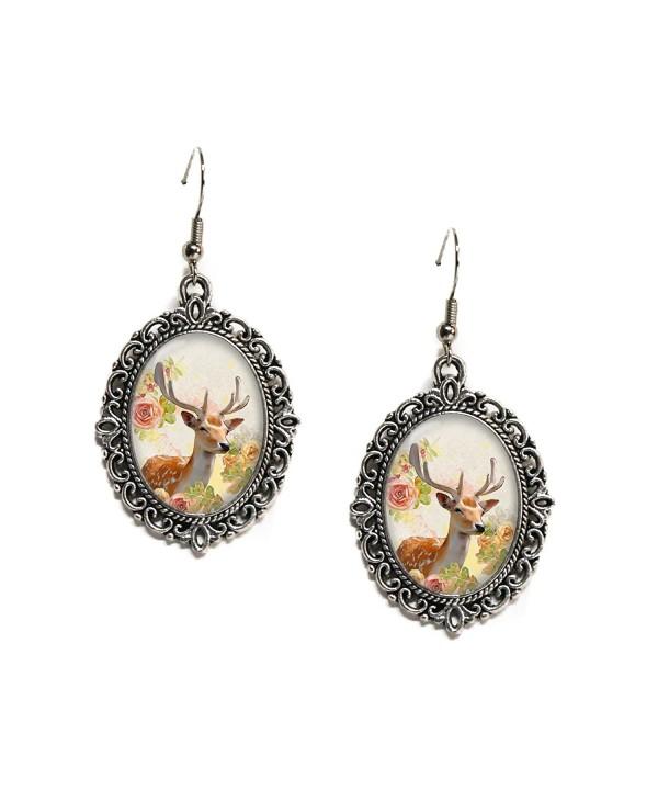 Floral Woodland Antlers Filigree Earrings