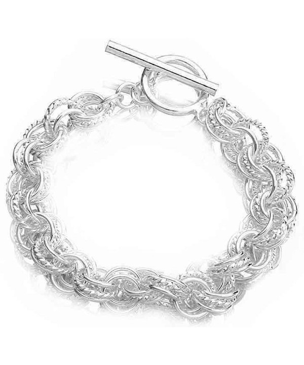 PMANY Mothers Sterling Bracelet T Circle