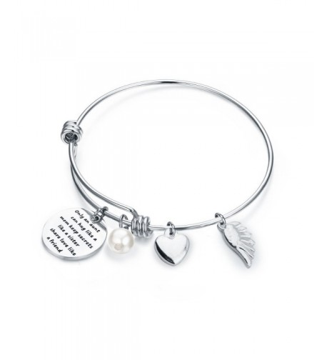 WUSUANED Quote Bangle Bracelet Sister