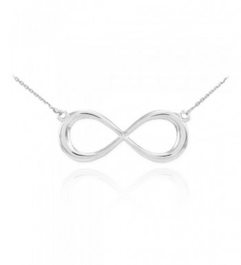 Sterling Silver Forever Infinity Necklace