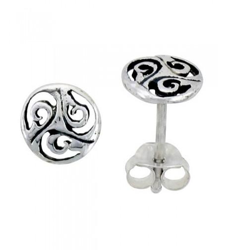 Sterling Silver Celtic Triskelion Earrings