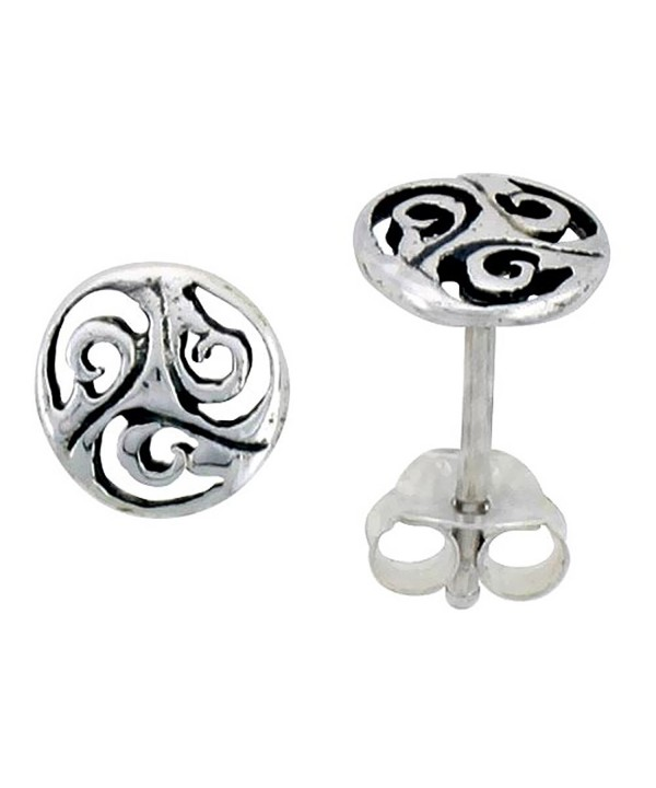 Sterling Silver Celtic Triskelion Earrings