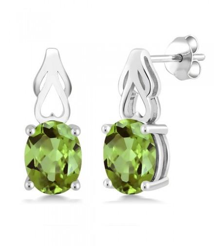 Sterling Peridot Gemstone Birthstone Earrings