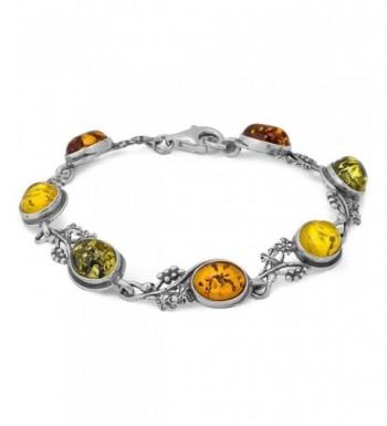 Multicolor Sterling Silver Grapevine Bracelet