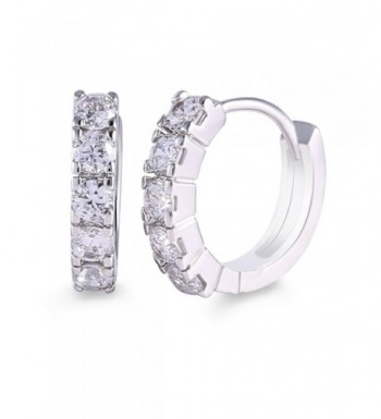 GULICX Silver Rhinestone Sparkle Earring
