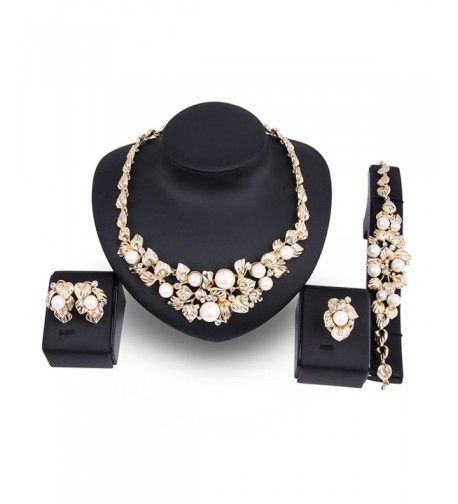 Simulated Necklace Earrings Wedding Accessories