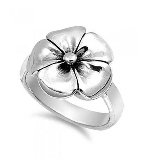Hawaiian Tropical Plumeria Sterling Silver
