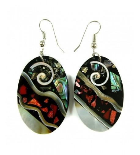Handmade Abalone Dangle earrings DA117