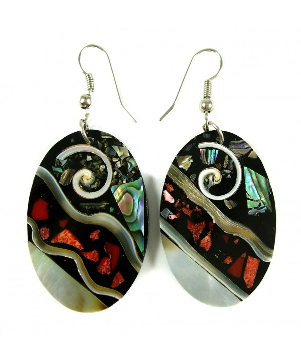 Handmade Abalone Dangle earrings DA117