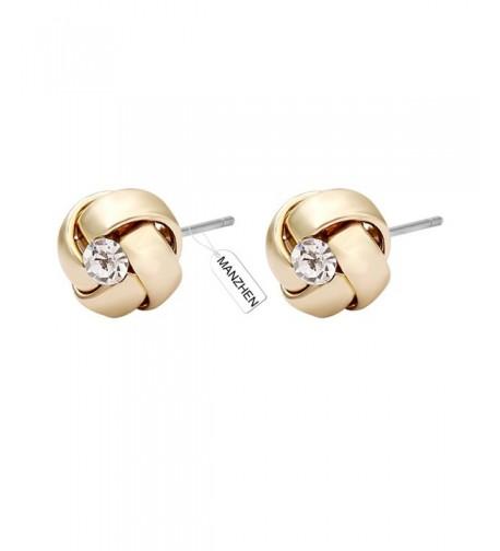 MANZHEN Crystal Earrings Earing Bridesmaid