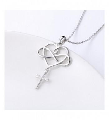 99a7107723403 925 Sterling Silver Infinity Love Guardian Cross Heart Angel Wing