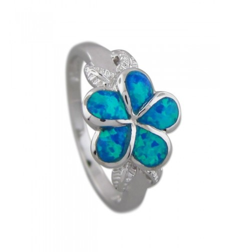 Sterling Silver Synthetic Plumeria Maile