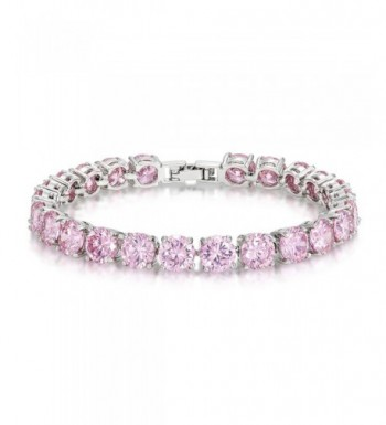 Tennis Bracelet Eternity Round Pink