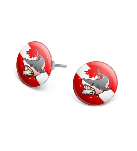 Diving Novelty Silver Plated Earrings