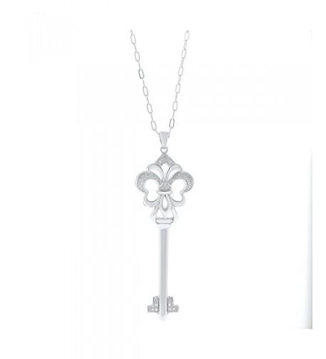 Womens Silver Heart Diamond Pendant