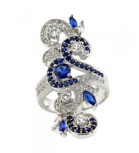 Vintage Inspired Marquise Created Sapphire