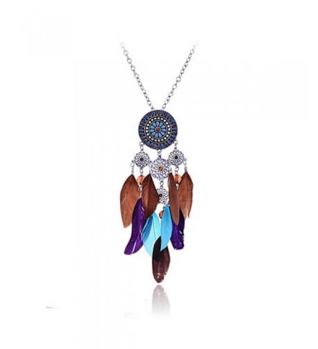 American Catcher Colorful Feather Necklace