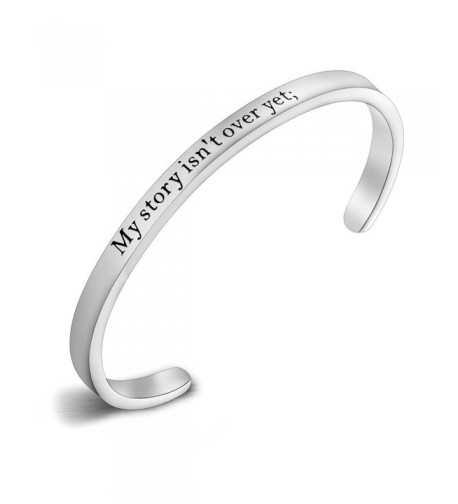 Semicolon Stamped Suicide Awareness Bracelet